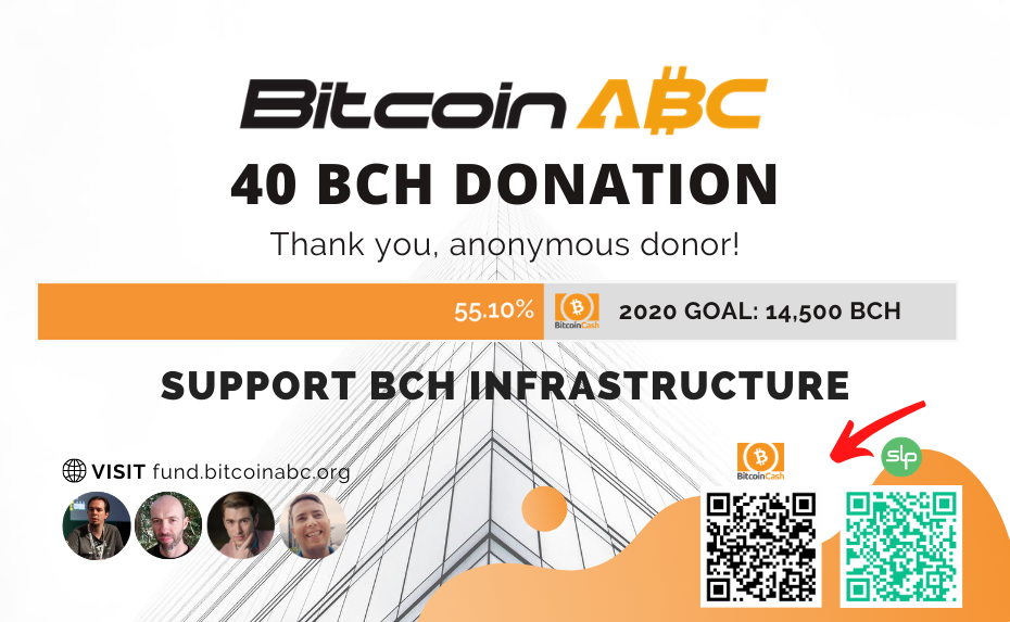 New 40 BCH Donation for Bitcoin ABC Avalanche Work