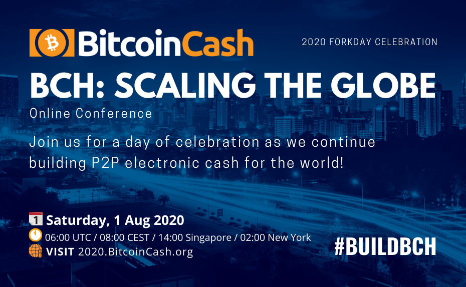 50+ Speakers including Amaury Séchet, Jeffrey Tucker & Roger Ver Confirmed for Bitcoin Cash Online Conference August 1, 2020